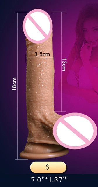 Realistic Skin Big Dildo With Suction Cup