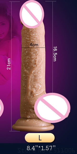 Realistic Skin Big Dildo With Suction Cup - Own Pleasures