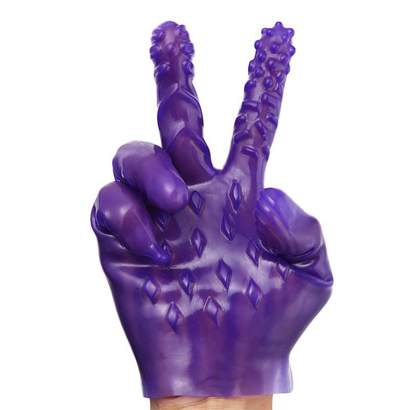 1 Pc Silicone Erotic Massager Gloves - Own Pleasures