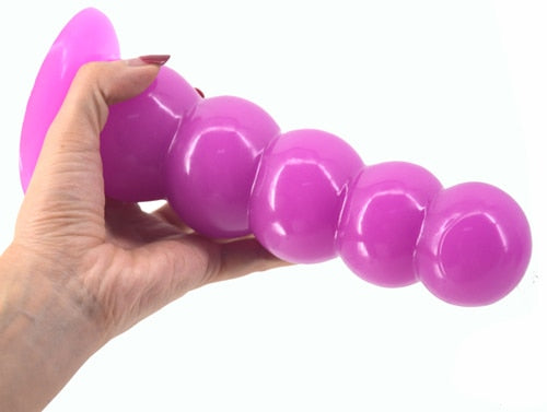 Big and Strong Anal Dildo with Suction Beads - Own Pleasures