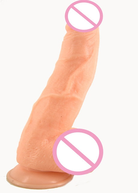 Huge Realistic Suction Cup Dildo - Own Pleasures