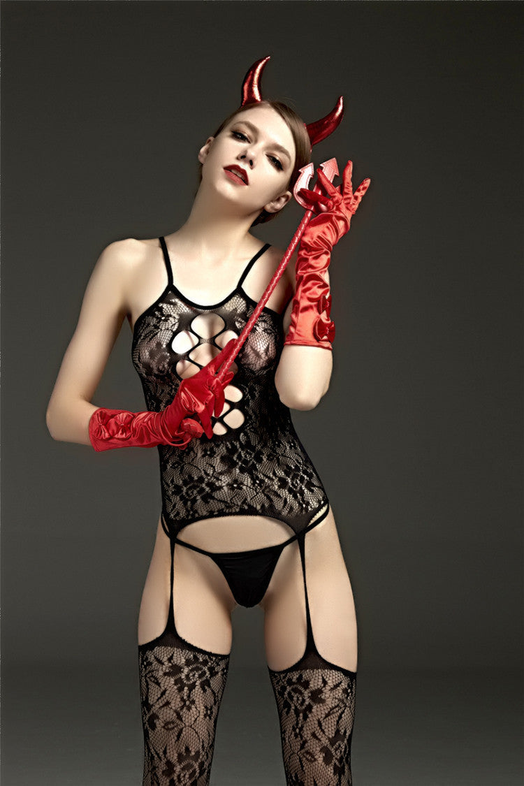 Hollow Babydoll | Sexy Devil Set
