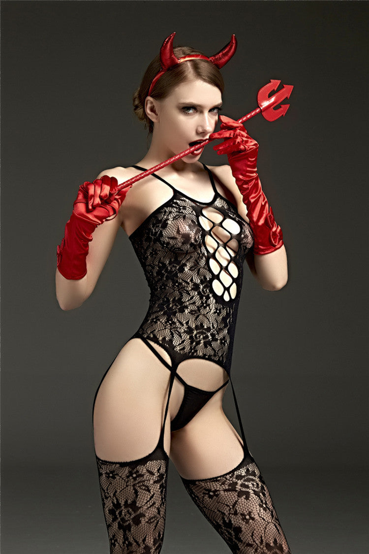 Hollow Babydoll | Sexy Devil Set - Own Pleasures