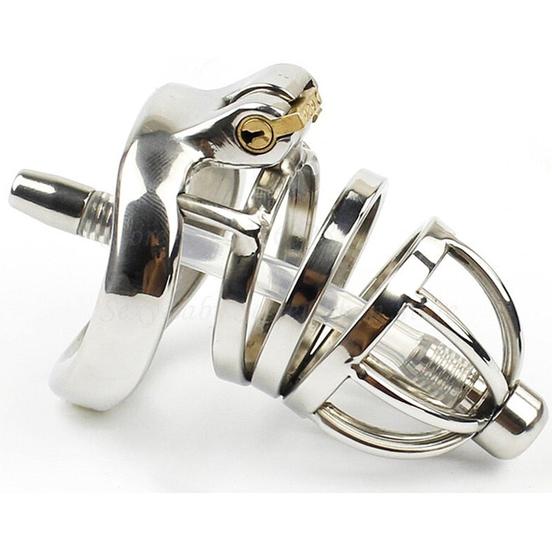 Stainless Steel Chastity Penis Cage | Cock Ring Sleeve - Own Pleasures