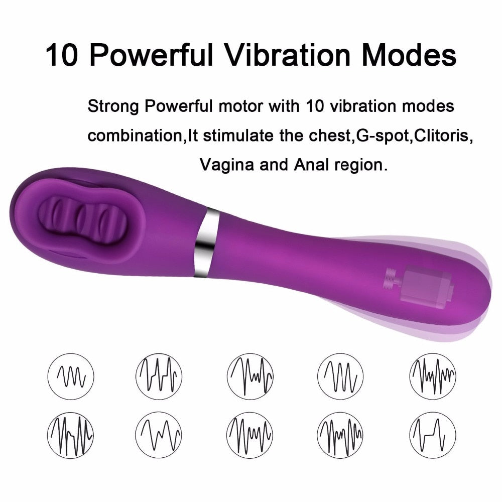 Heated Tongue Vibrator Massager