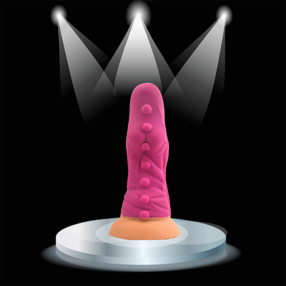 Spots Textured Big Dildo | Wide Berth | Suction Cup