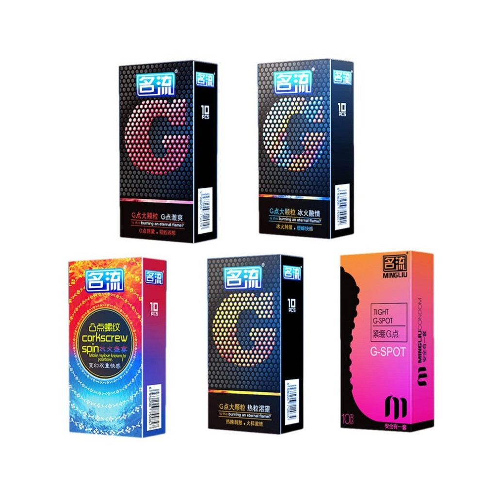 50Pcs 5 Types of Stimulation Condoms Ultra Thin - Own Pleasures