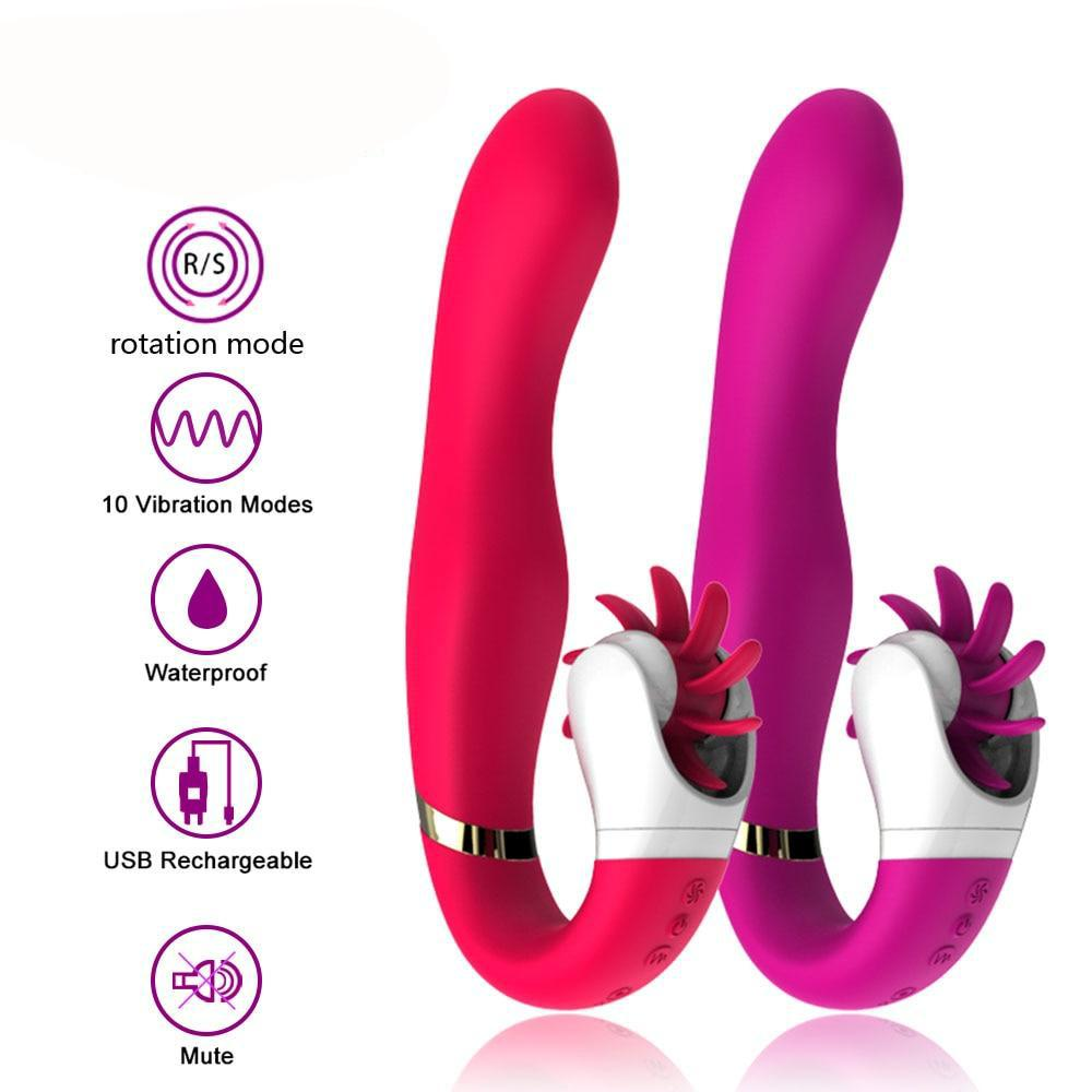 12 Speed Oral Sex and Dildo Vibrators for Women