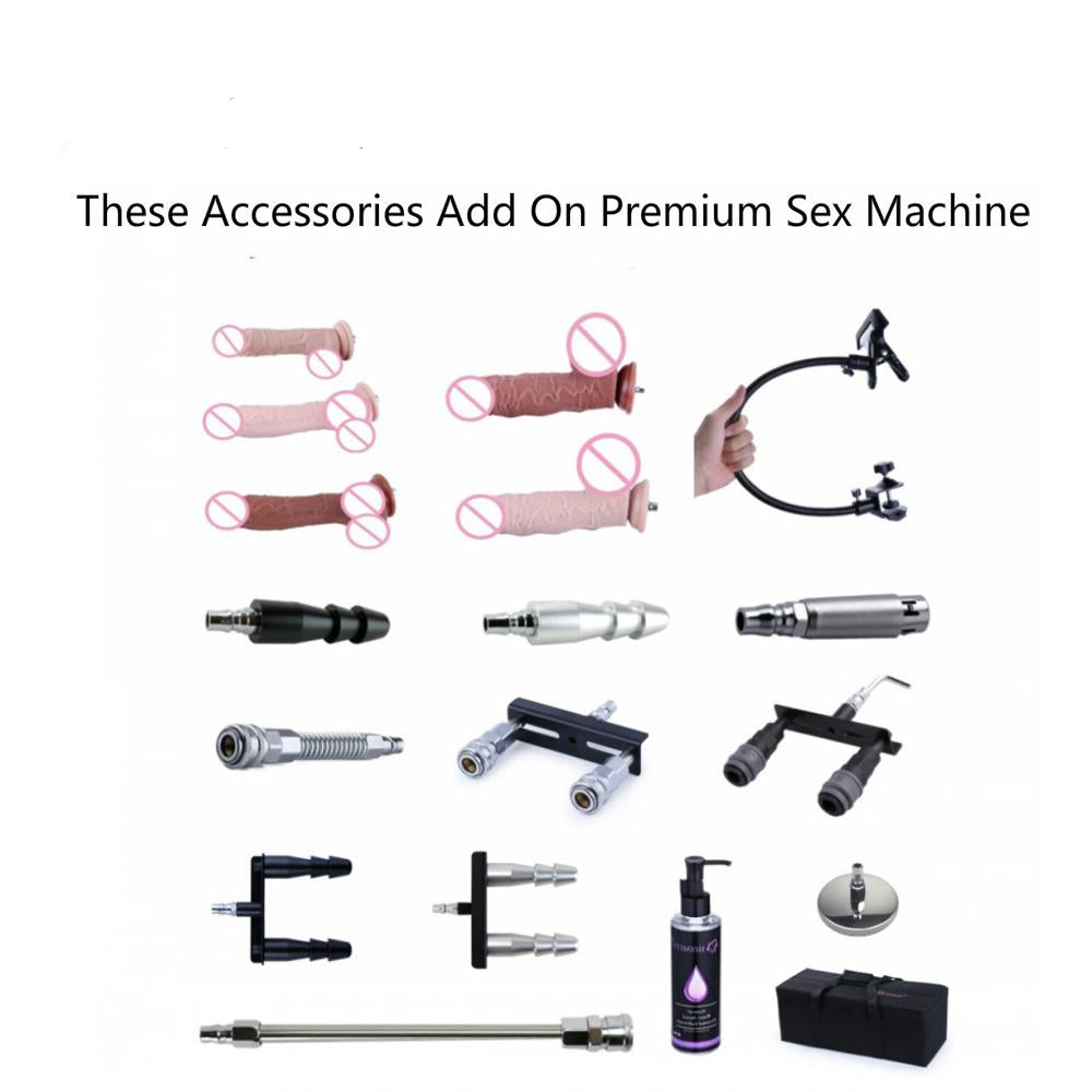 18 Adjustable Dildos and Parts for Sex Machine A2, F2 & F3 - Own Pleasures