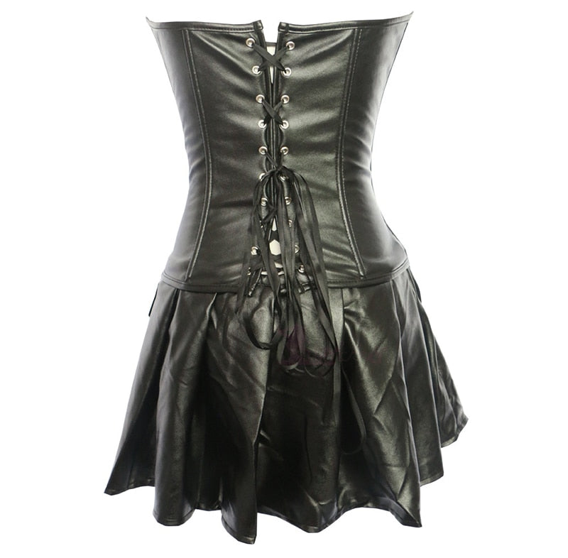 Up to 6XL Sexy Faux Leather Dress
