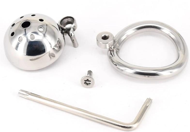 Small Stainless Steel Chastity Cage | CBT Ring - Own Pleasures