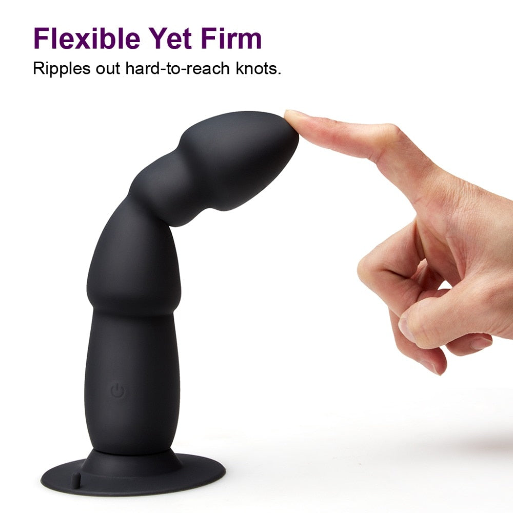 USB 10 Speeds Wireless Remote Control Anal Plug Vibrator | Suction Cup | auto male masterbator - Own Pleasures