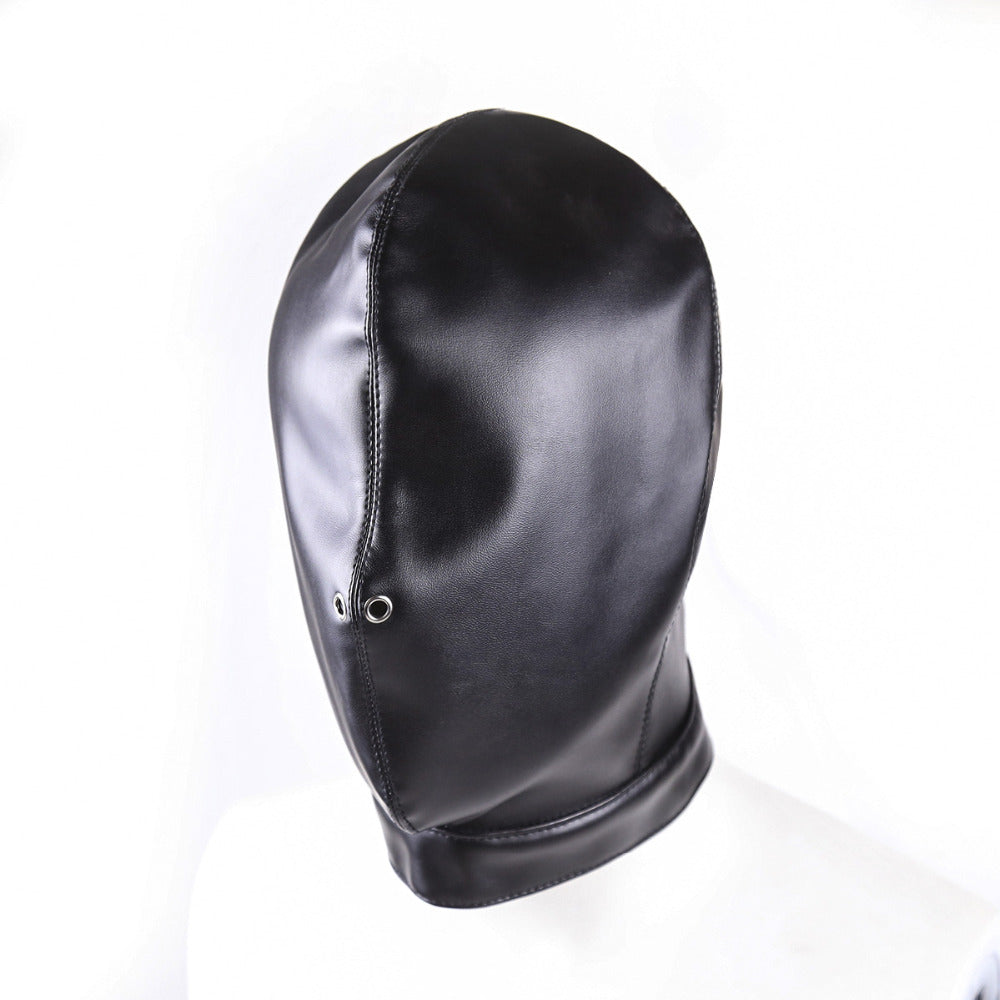PU Leather Mask Harness Breathable Hood | Restraint | Punishment