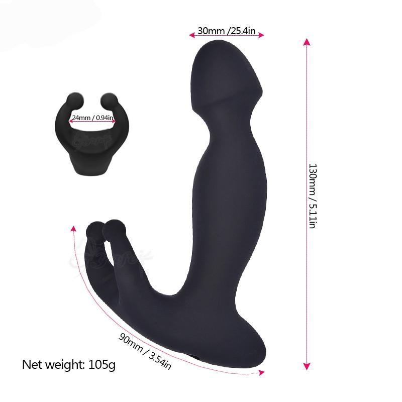 Anal Vibrator Dildo and Testicules Massager