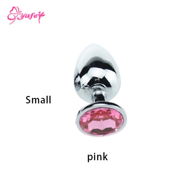Stainless Steel Crystal Anal Plugs, 3 Sizes - Own Pleasures