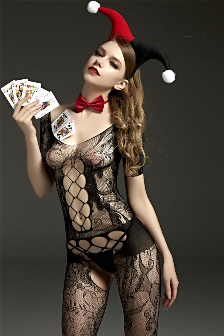 Poker Sexy Lace Mesh Open Crotch - Own Pleasures
