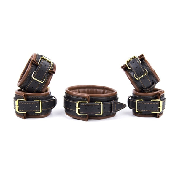2 Types of PU Leather Retro Adjustable Hand | Ankle Cuffs Restraints