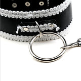 Sexy Adjustable PU Leather Handcuffs and Collar - Own Pleasures