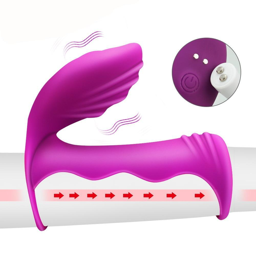 7 Speed Penis Double Ring | Strapless Dildo Vibrator for Couples