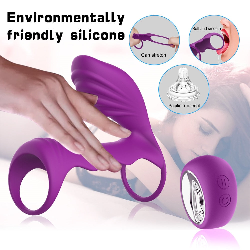 Delay Ejaculation Vibrating Ring and G spot Stimulator for Couples