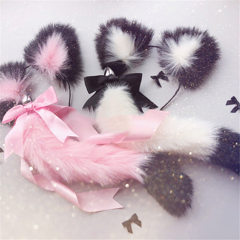 Cat Ears Headbands with Fox Plug Tail, 9 Types - Own Pleasures