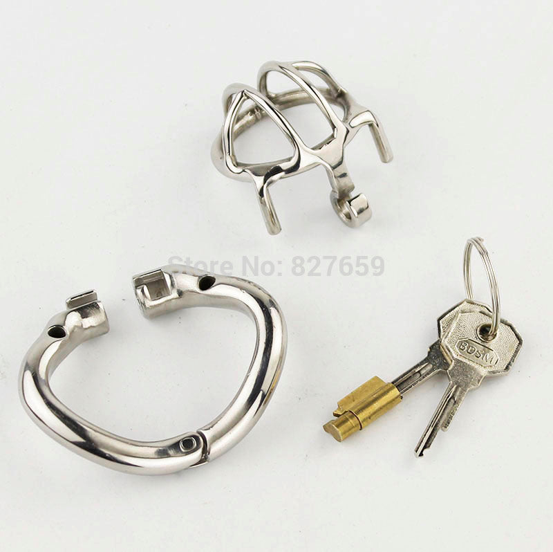 Stainless Steel Small Chastity Device | Arc-shaped Chastity Cage - Own Pleasures