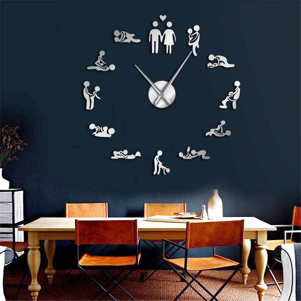 Adult Room Decoration-Game Big Sex Positions Wall Clock