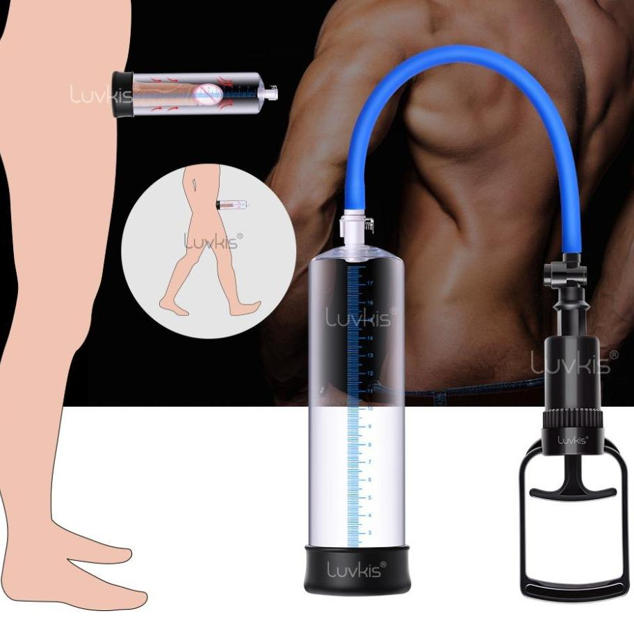 T-Handle Penis Pump with Silicone Sleeve (Vacuum  Erection Pump)