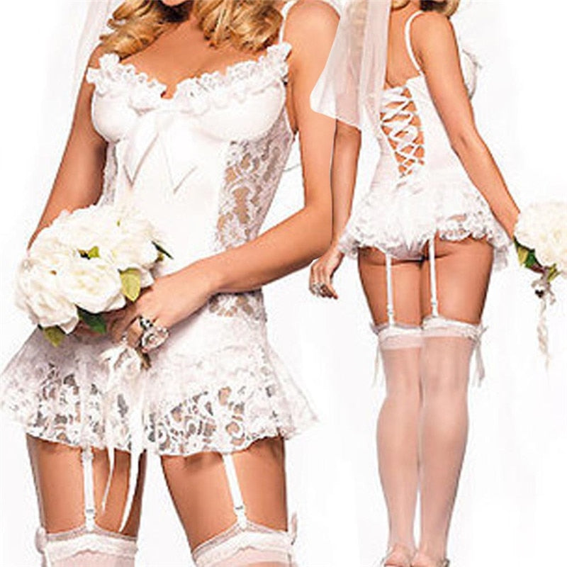 Sexy Lace Bridal Lingerie For Erotic Playtime