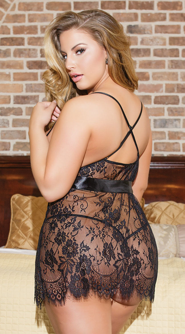 Black Lace Transparent Sexy Lingerie