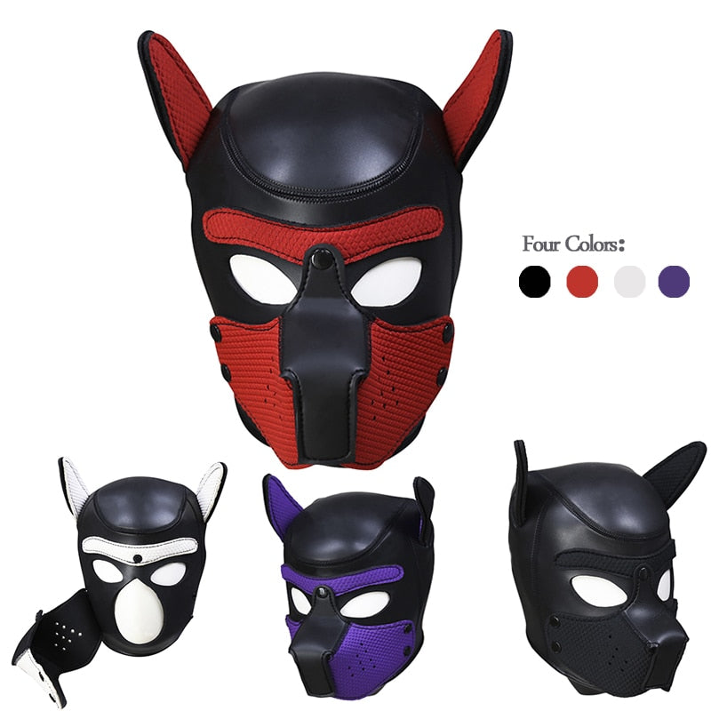Dog Headgear | BDSM Openable Mask Hood - Own Pleasures