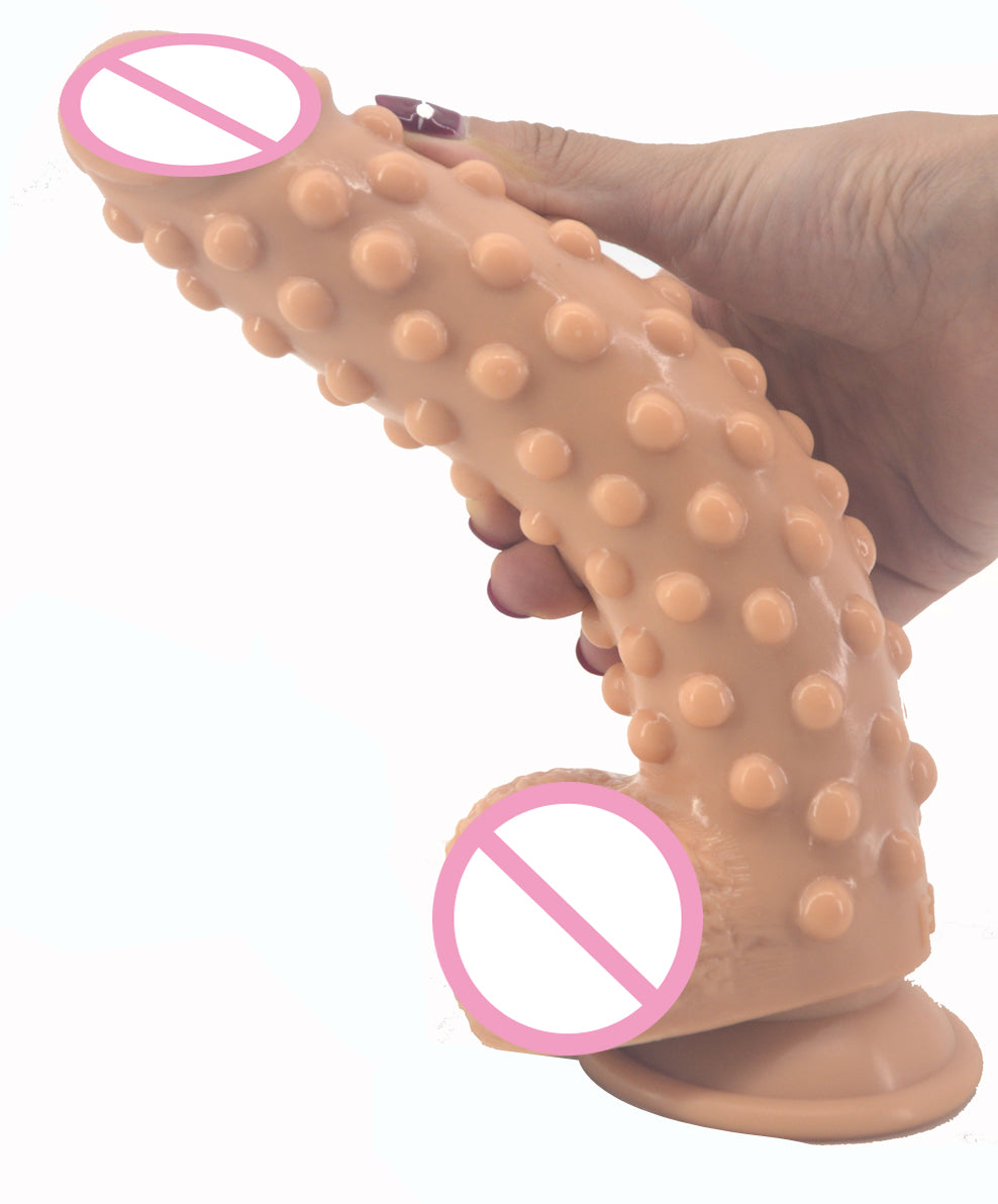 Silicone extreme ribbed dildo with suction cup - Own Pleasures