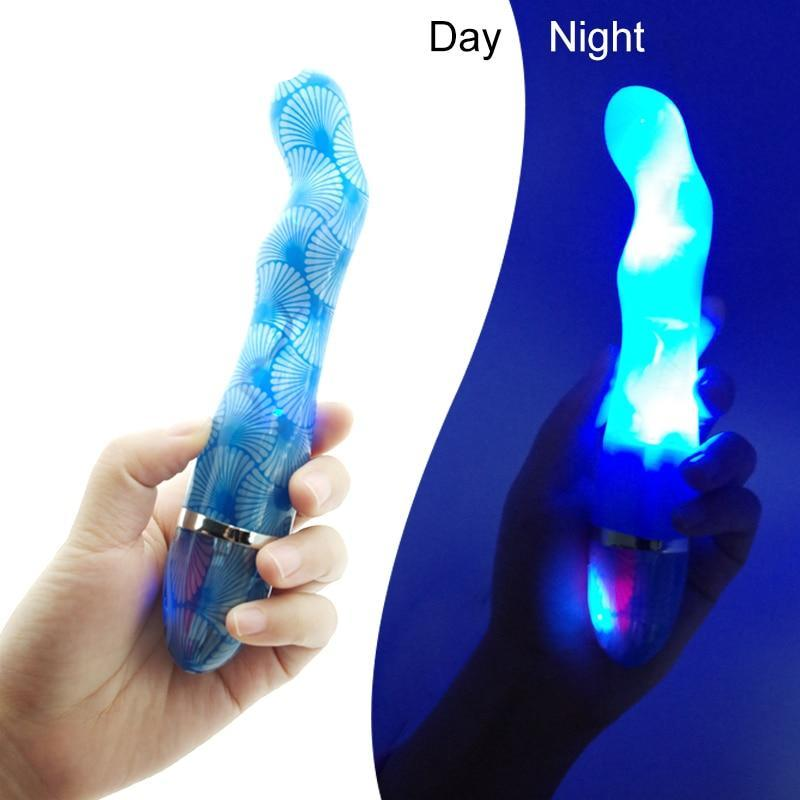 Led Light 7 Speeds Personal Stick Massager Vibrator