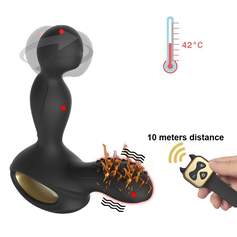 Remote Control 10 Speed | Heated Rotative Anal Plug