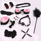 BDSM Restraint Bondage Set Red/Black/PinkSex - Own Pleasures