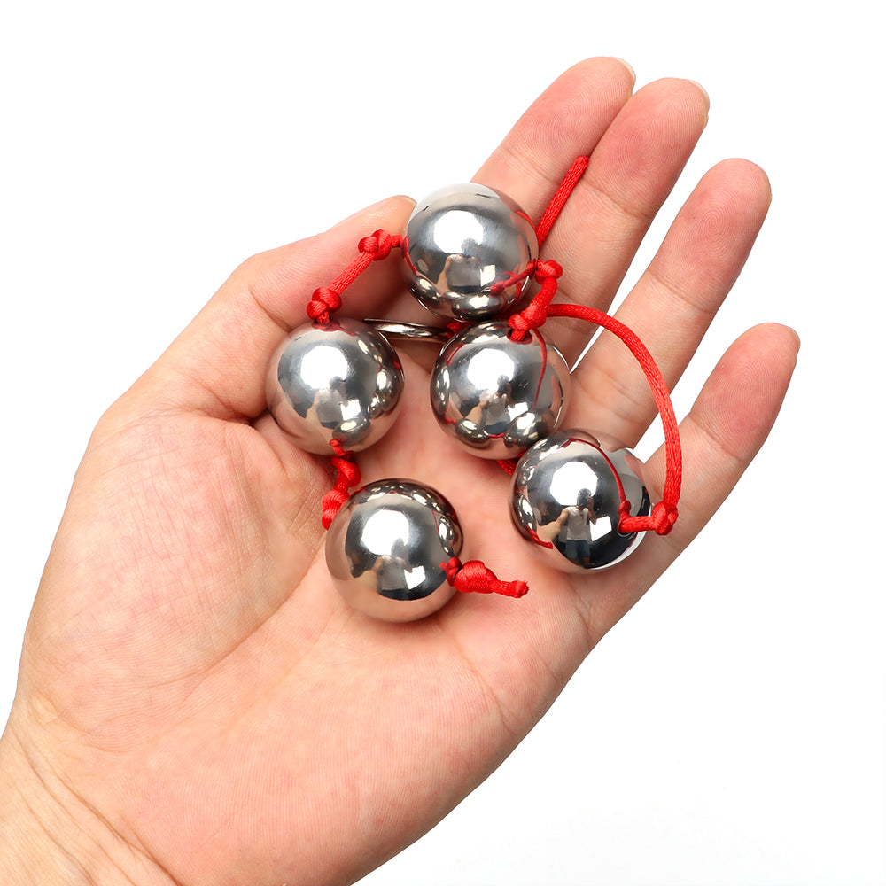 Five Stainless Steel Anal Vagina Balls - Own Pleasures