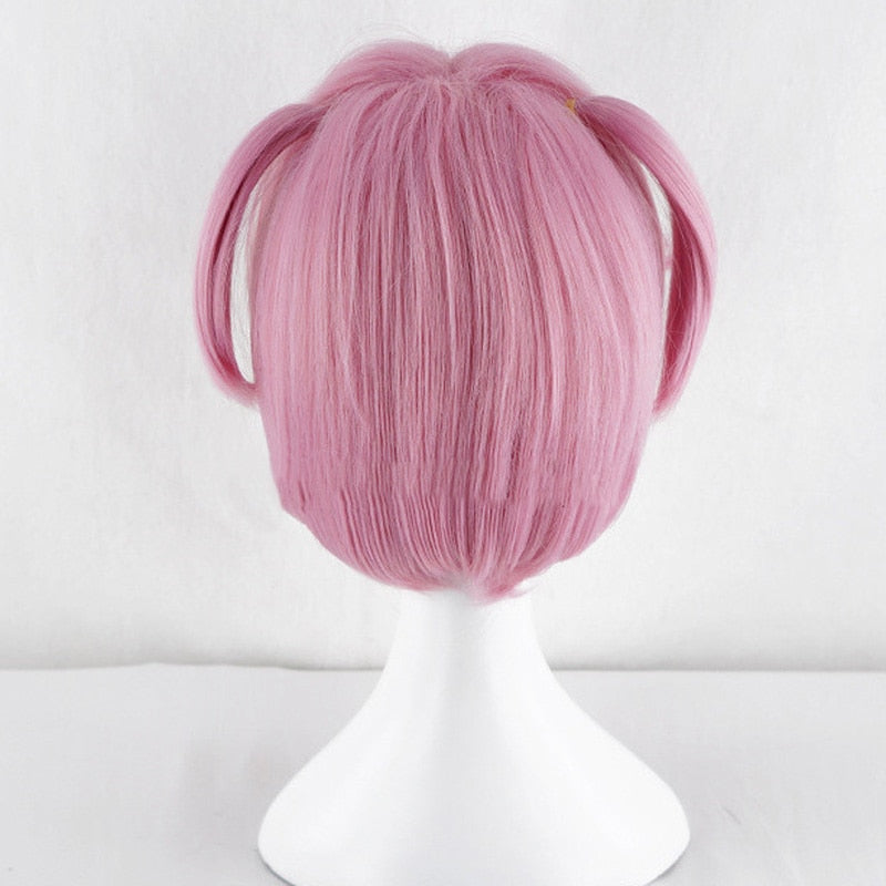 Synthetic Wig | Anime Doki Doki Literature Club! Natsuki Costume Pink Cosplay