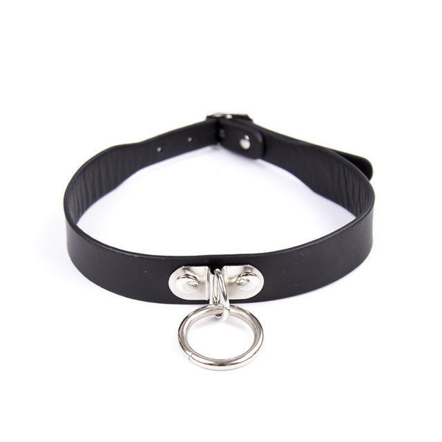 19 Types Adjustable Faux Leather Neck BDSM Collar
