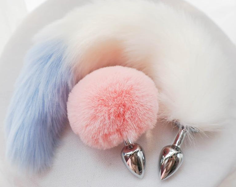 Stainless Steel Cosy Rabbit Tail & Anal Plug
