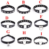 6 Types of PU Leather Bondage Neck Collar - Own Pleasures