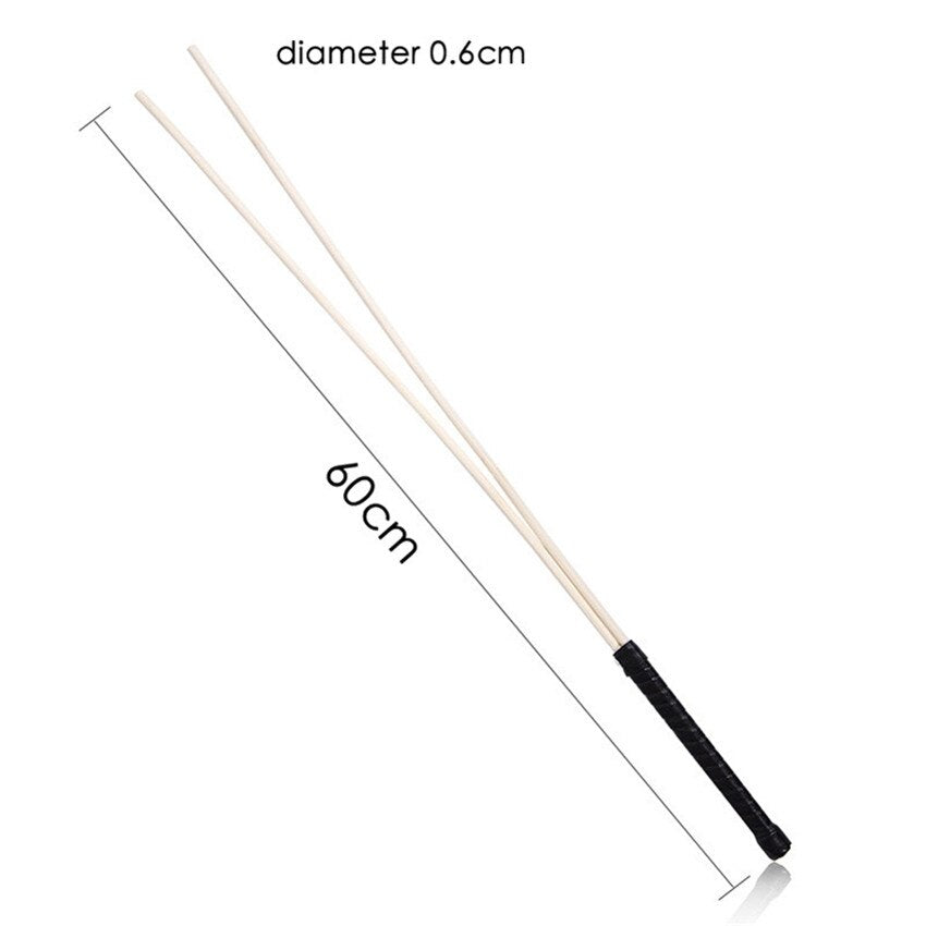 BDSM Double Rattan Rod for Spanking - Own Pleasures