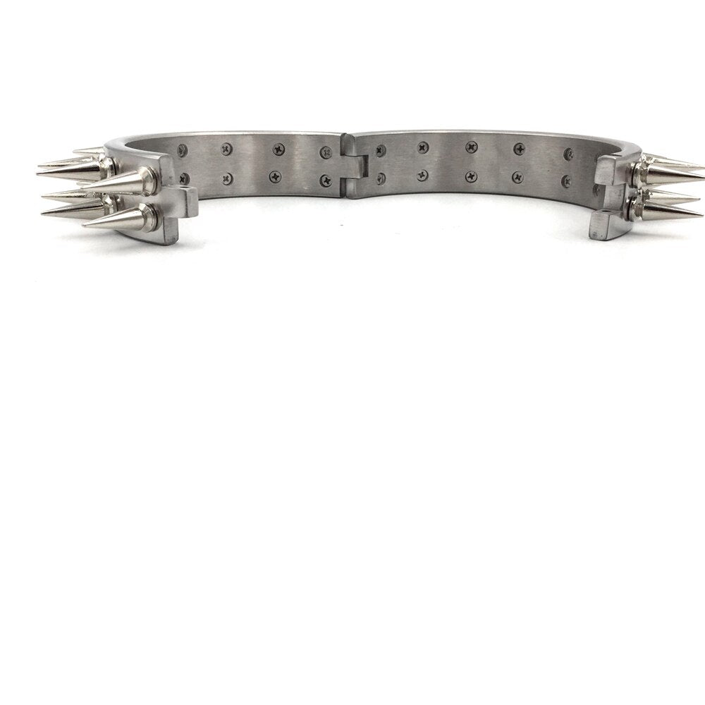 Stainless Steel new double-row stimulus collar