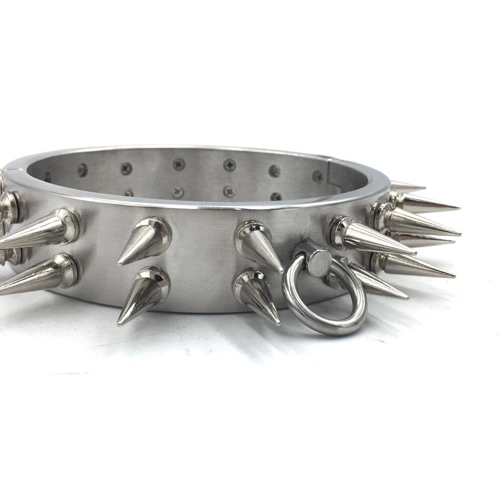 Stainless Steel new double-row stimulus collar - Own Pleasures