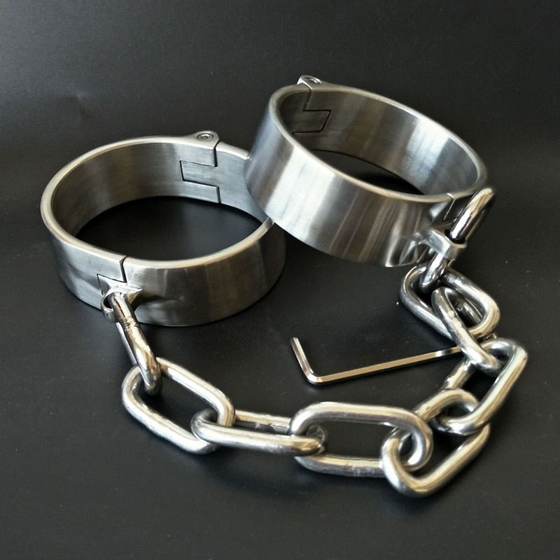 Heavy Stainless Steel Hand | Ankle Cuff Lockable | BDSM Fetish Bondage - Own Pleasures