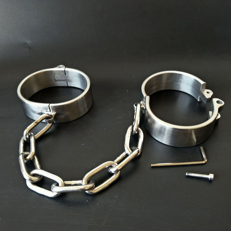 Heavy Stainless Steel Hand | Ankle Cuff Lockable | BDSM Fetish Bondage