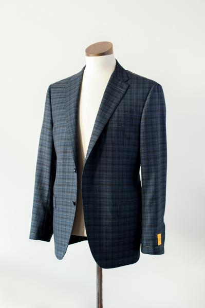 NAVY GREY AND BLUE WITH LIGHT GREY OVERCHECK SPORT COAT