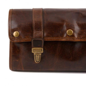 BROMPTON BROWN AUSTIN HANGING DOPP KIT
