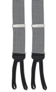 BLACK/WHITE WOVEN HOUNDSTOOTH BRACES