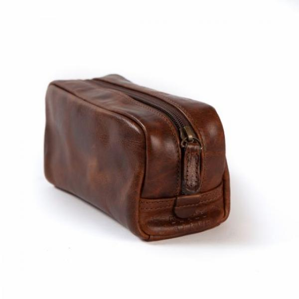 GEORGE MINI DOPP KIT TITAN MILLED