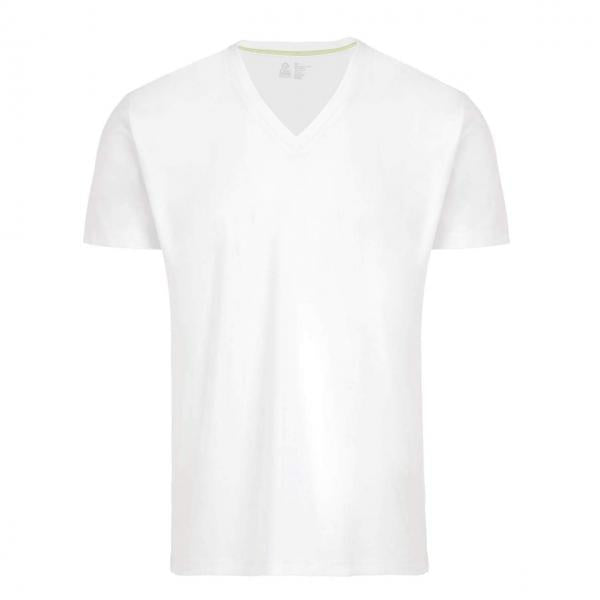 DEEP V-NECK UNDERSHIRT - WHITE